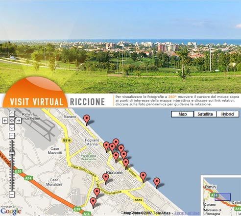 Virtual tour interattivo in Flash di Riccione